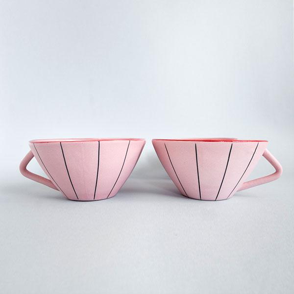 Juego de café rosa Misoco Designs
