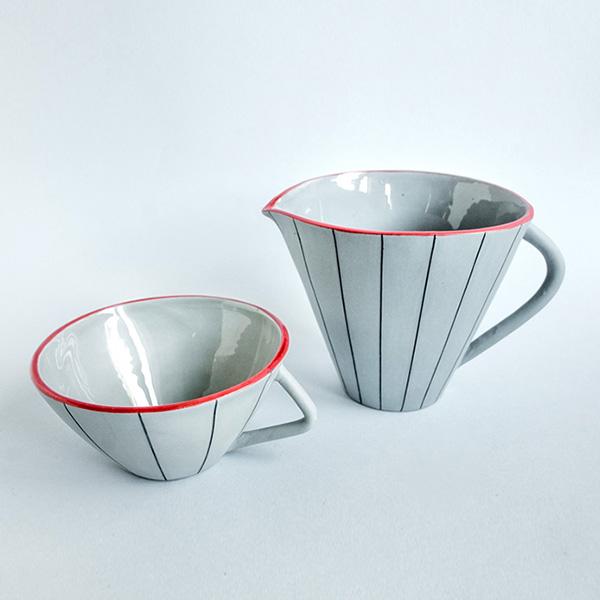 Juego de taza y jarra ancha Misoco Designs